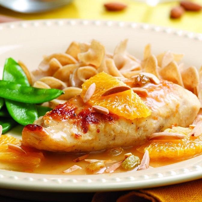 الدجاج مع صلصة البرتقال