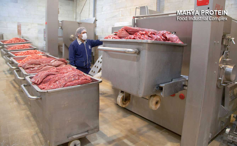 إنتاج اللحوم المفرومة